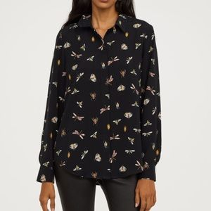 Insect print blouse